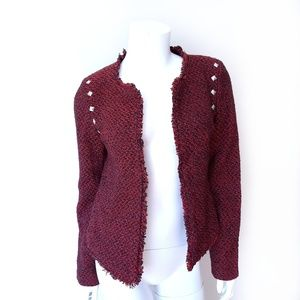 Monteau Jackets & Coats - Monteau Red Black Tweed Blazer Jacket